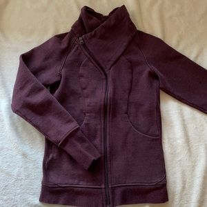 Lululemon burgundy scuba jacket without hood
